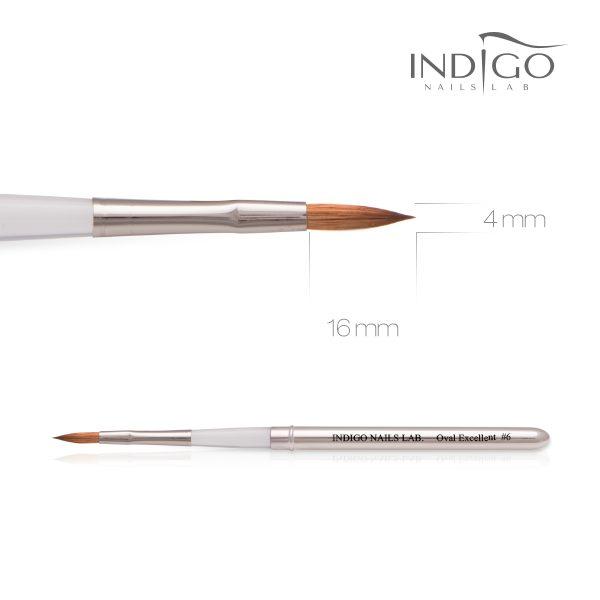 Indigo Brush Oval Excellent No 6