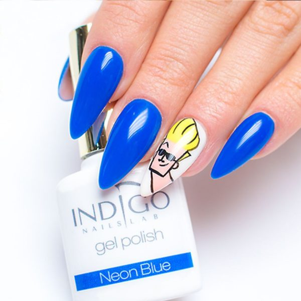 Neon Blue Gel Polish
