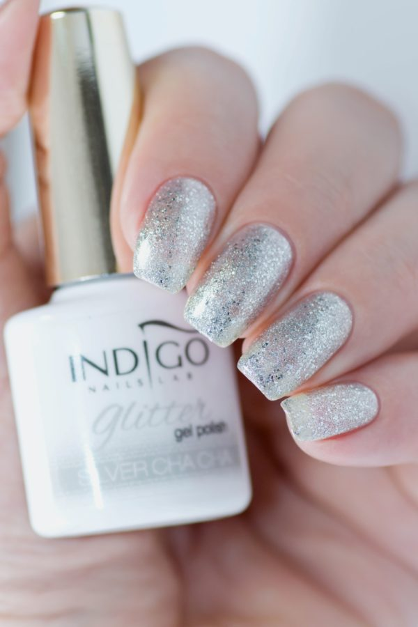 Silver Cha Cha Glitter Gel Polish 10ml